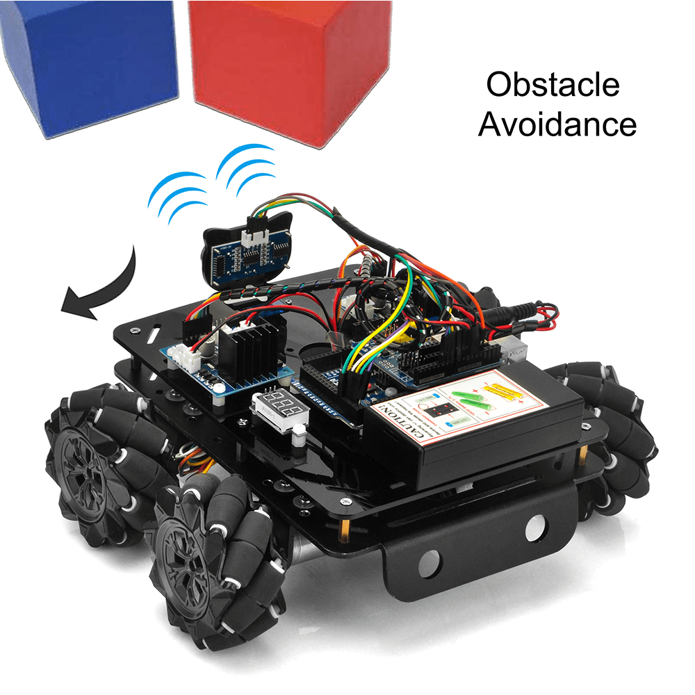 Mecanum Wheel Metal Chassis Robotic (for Arduino Mega2560) Lesson 2: Obstacle avoidance robot