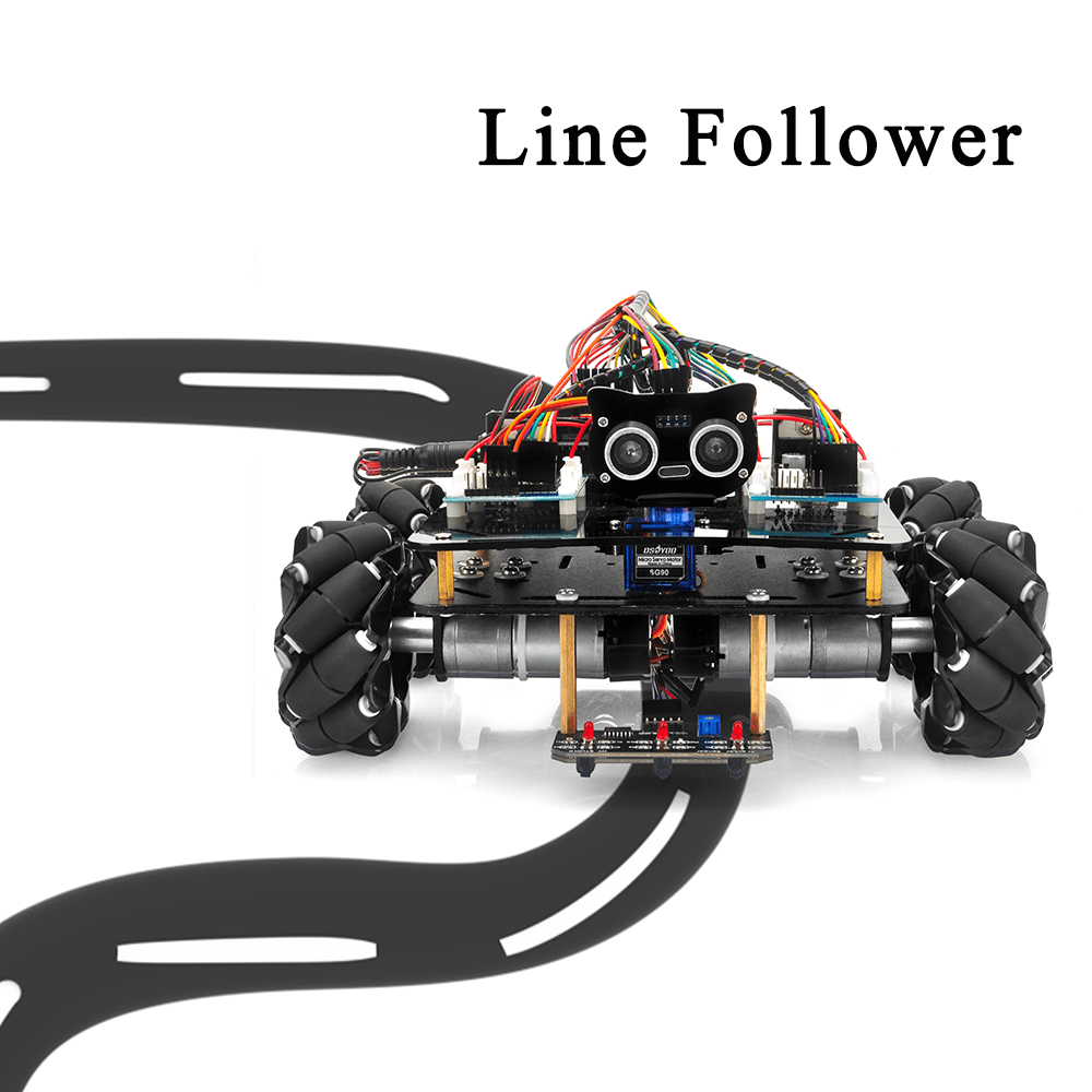 Mecanum Wheel Metal Chassis Robotic (for Arduino Mega2560) Lesson 3:Tracking Line