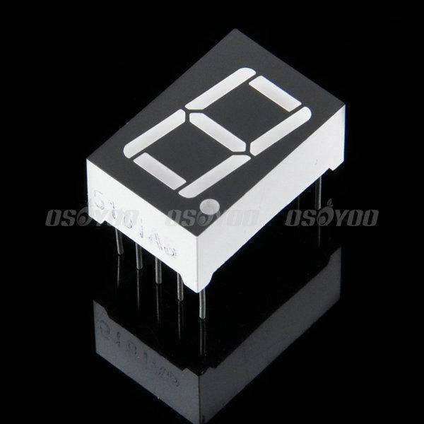 LEDデジタル表示管で0~9の数字を表示する