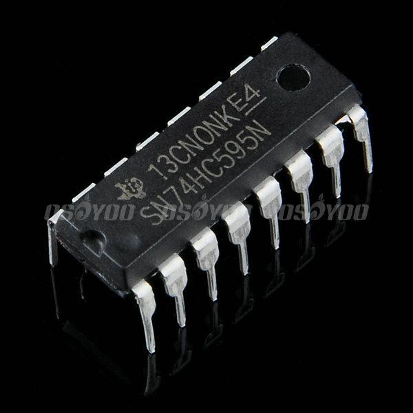 74HC595 シフトレジスターを使って、直列入力並列出力プロジェクト