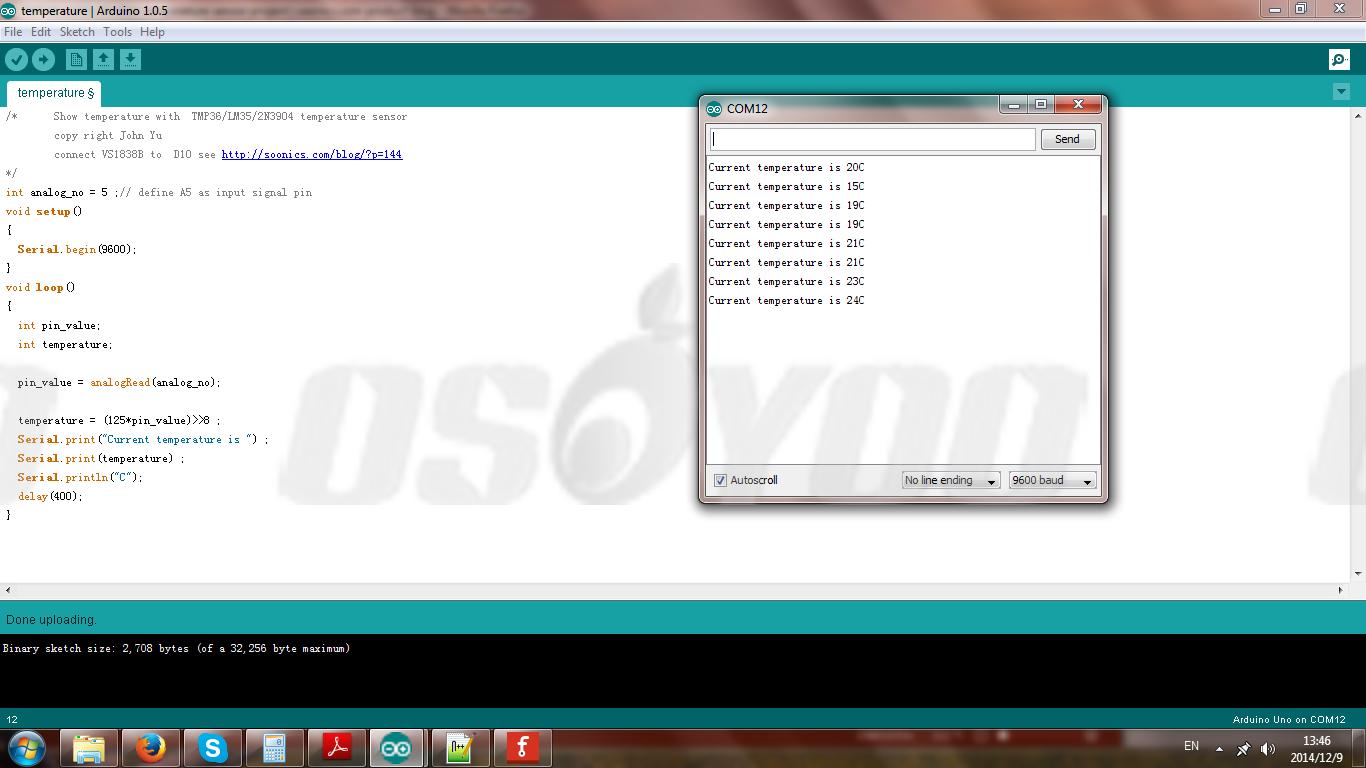 Tmp36 2n3904 Temperature Sensor Project 171 Osoyoo Com