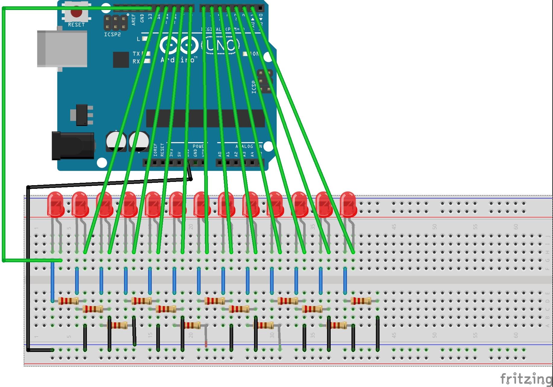 OSOYOO R3 UNO板 数字口测试电路