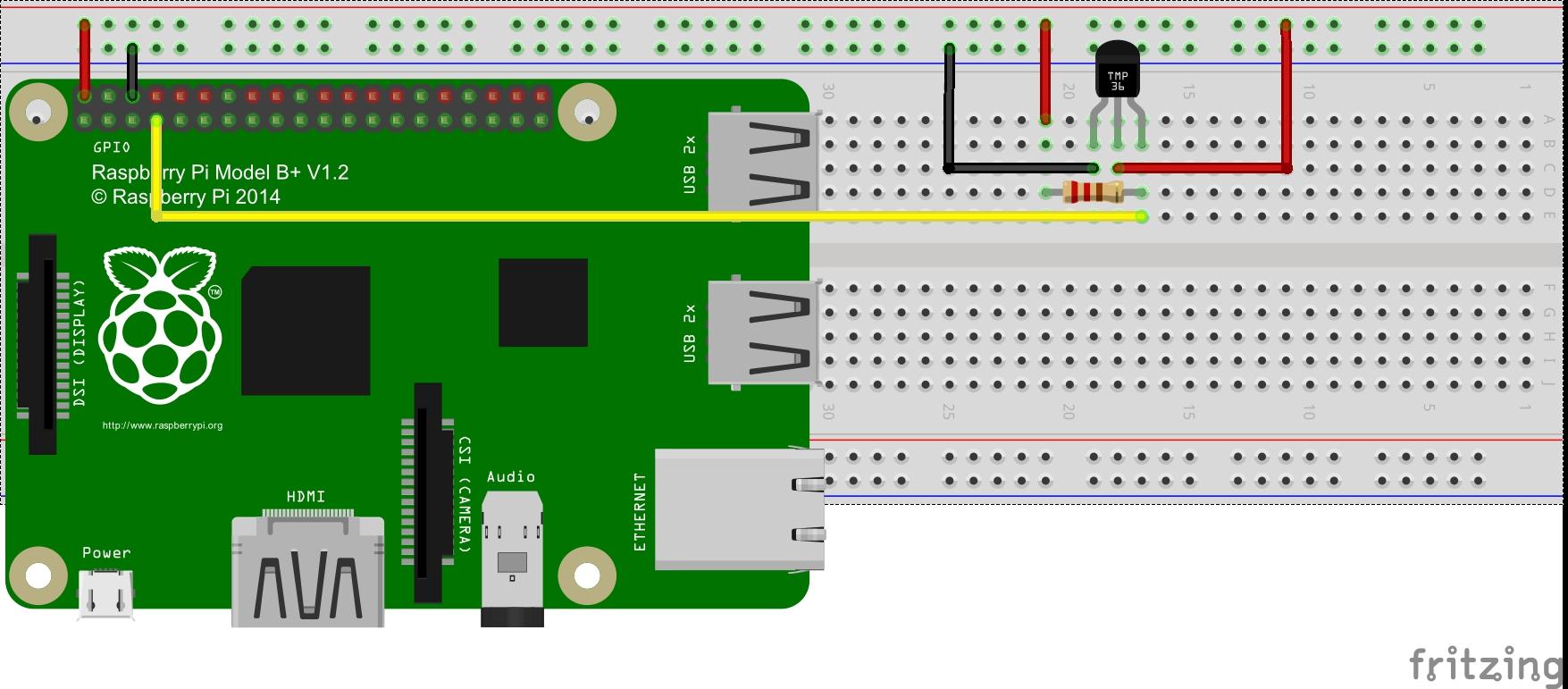 Raspberry Pi 2 and Temperature Sensor Project « osoyoo com