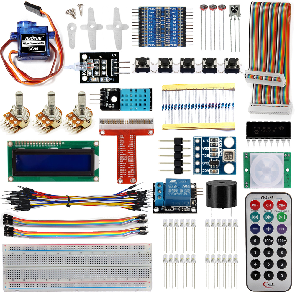 Raspberry Pi 3 starter learning Kit with Sample Projects