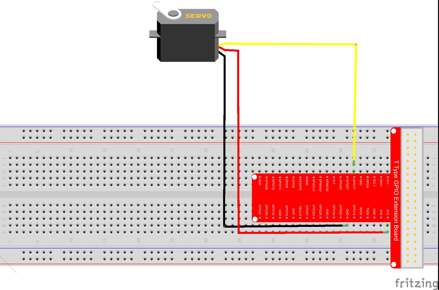 Drive Servo Motor With Raspberry Pi Serial Breakout Board Circuit Diagram Click For A Graph