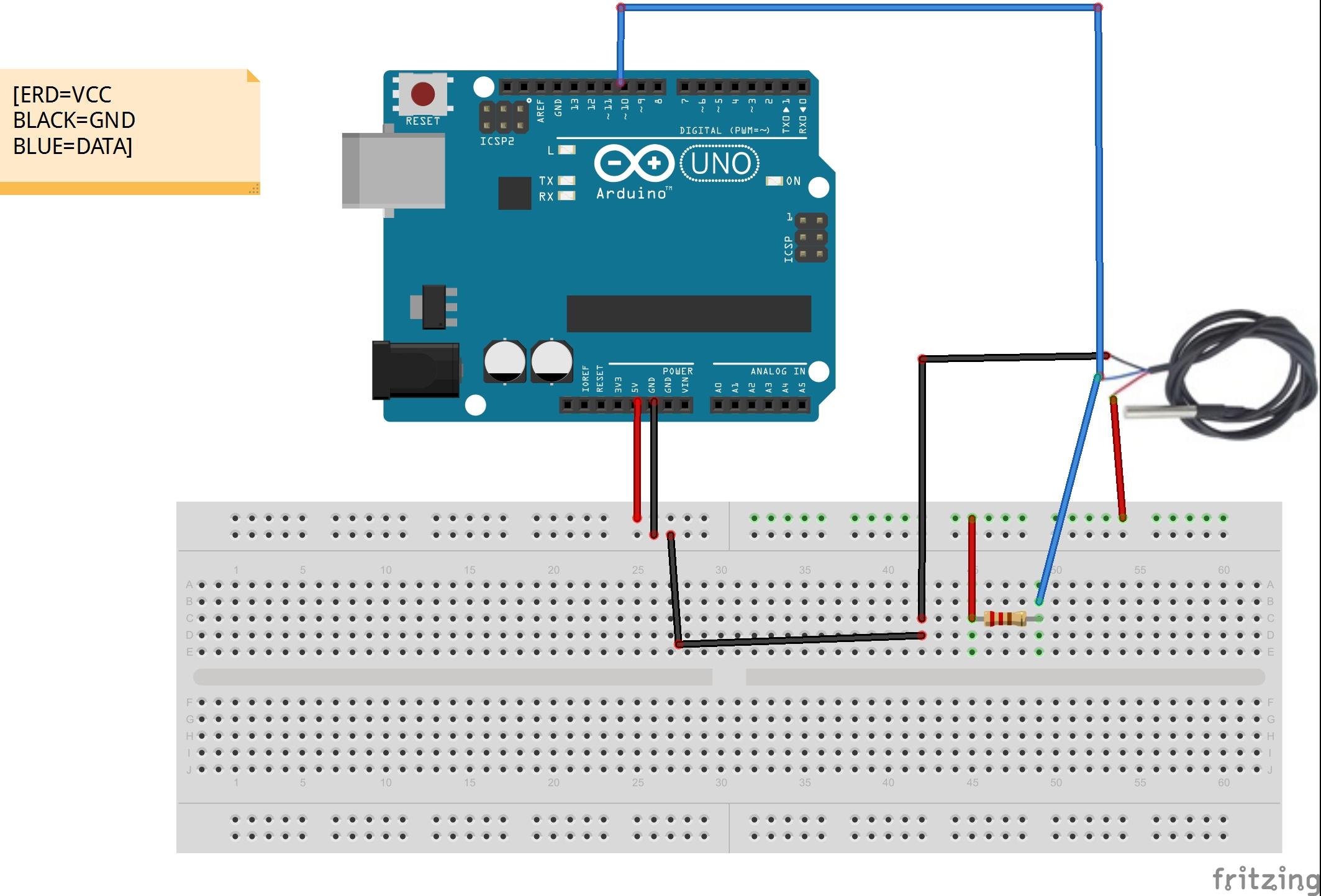 Ds18b20 Temperature Sensor Diagram - Trusted Wiring Diagrams •