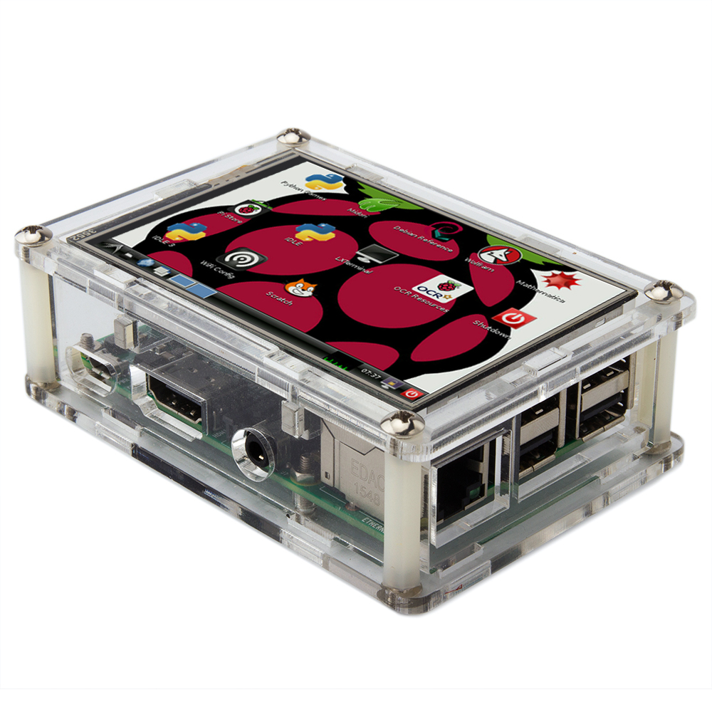 Osoyoo Clear Case with Raspberry Pi + 3.5″ LCD installation guide