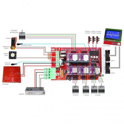 reprap ramps1 4 3d printer circuit connection graph \u2013 kookye com