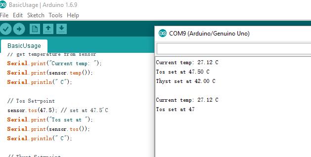 Arduino drive LM75 temperature sensor with I2C protocol