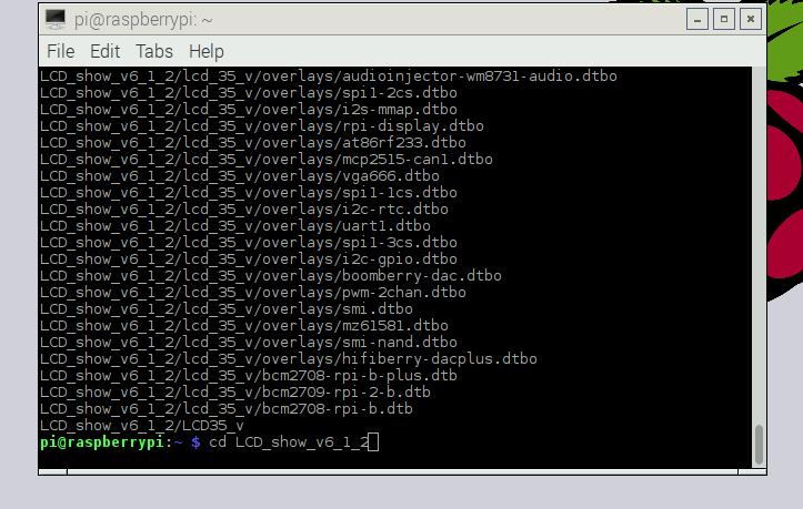 "Install Raspberry Pi 3 5"" Touch Screen Driver for Raspbian Stretch"