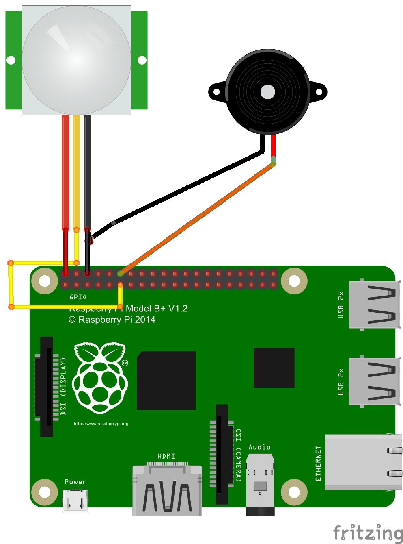 Raspberry PiとPIRモーション・センサーを使って、IoT自家盗難警報システムを作成する