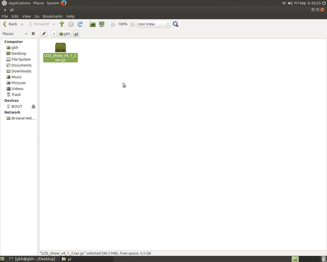 "Install Raspberry pi 3 5"" Touch Screen Driver for Ubuntu MATE"