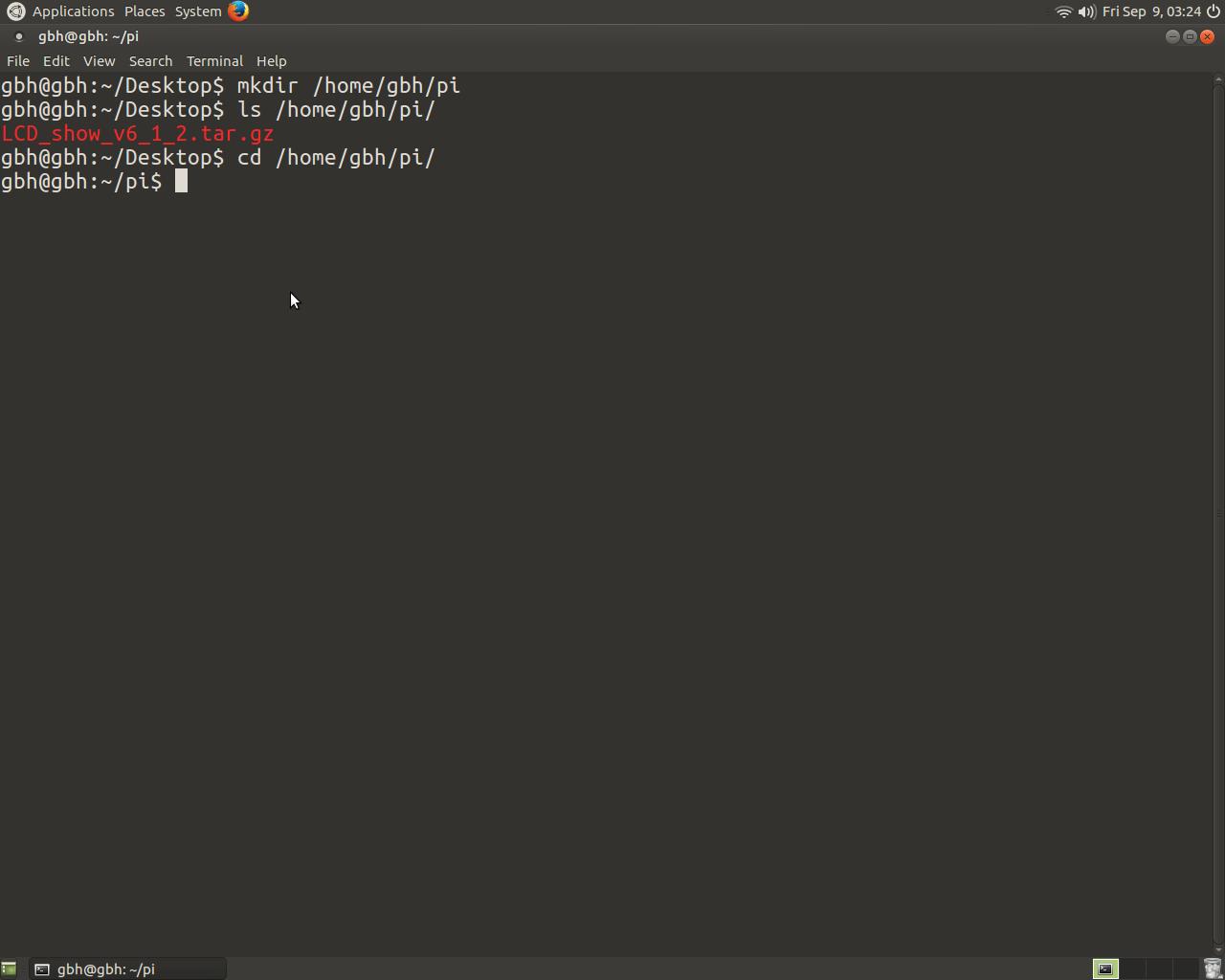 "Install Raspberry pi 3 5"" Touch Screen Driver for Ubuntu"
