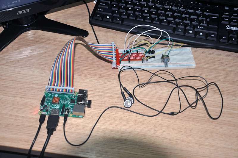 Use raspberrypi and AD converter to make a MP3 music player