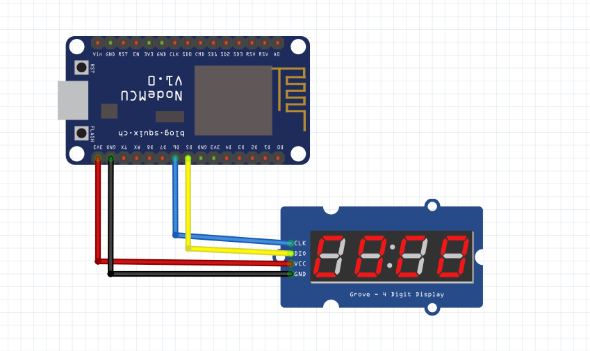 Use NodeMCU to show MQTT IOT message in 4-digit LED