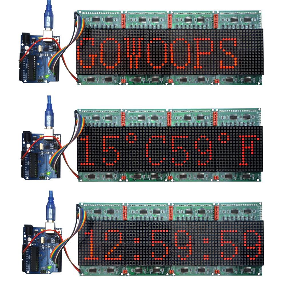 Use Arduino to drive 16 x 16 LED matrix « osoyoo com