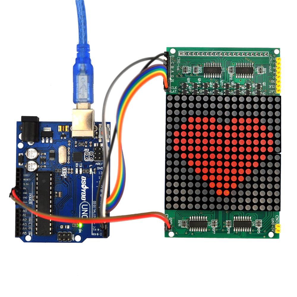 Use arduino to drive led matrix « osoyoo