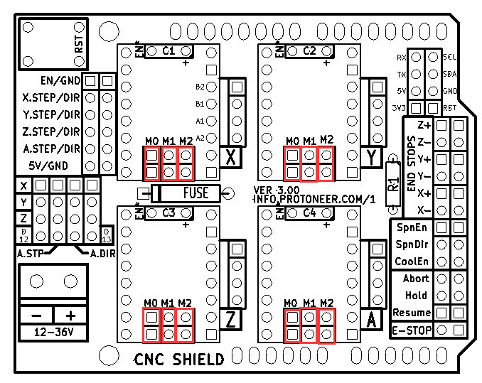 Arduino-CNC-Shield-V3-Layout