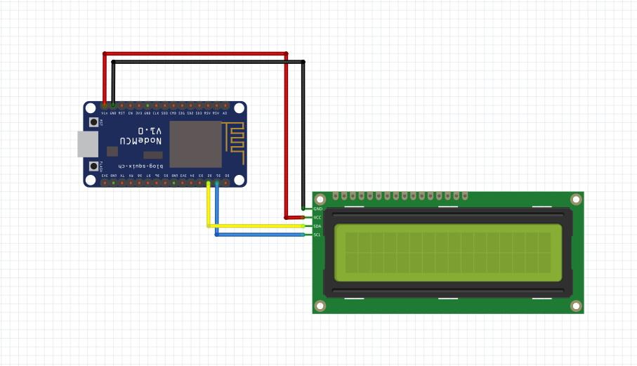 NodeMCU Lesson 15 — I2C 1602 LCD & MQTT