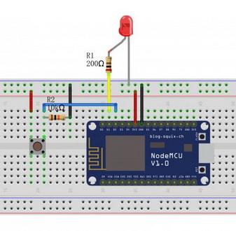 NodeMCU Lesson 4---Button Control LED