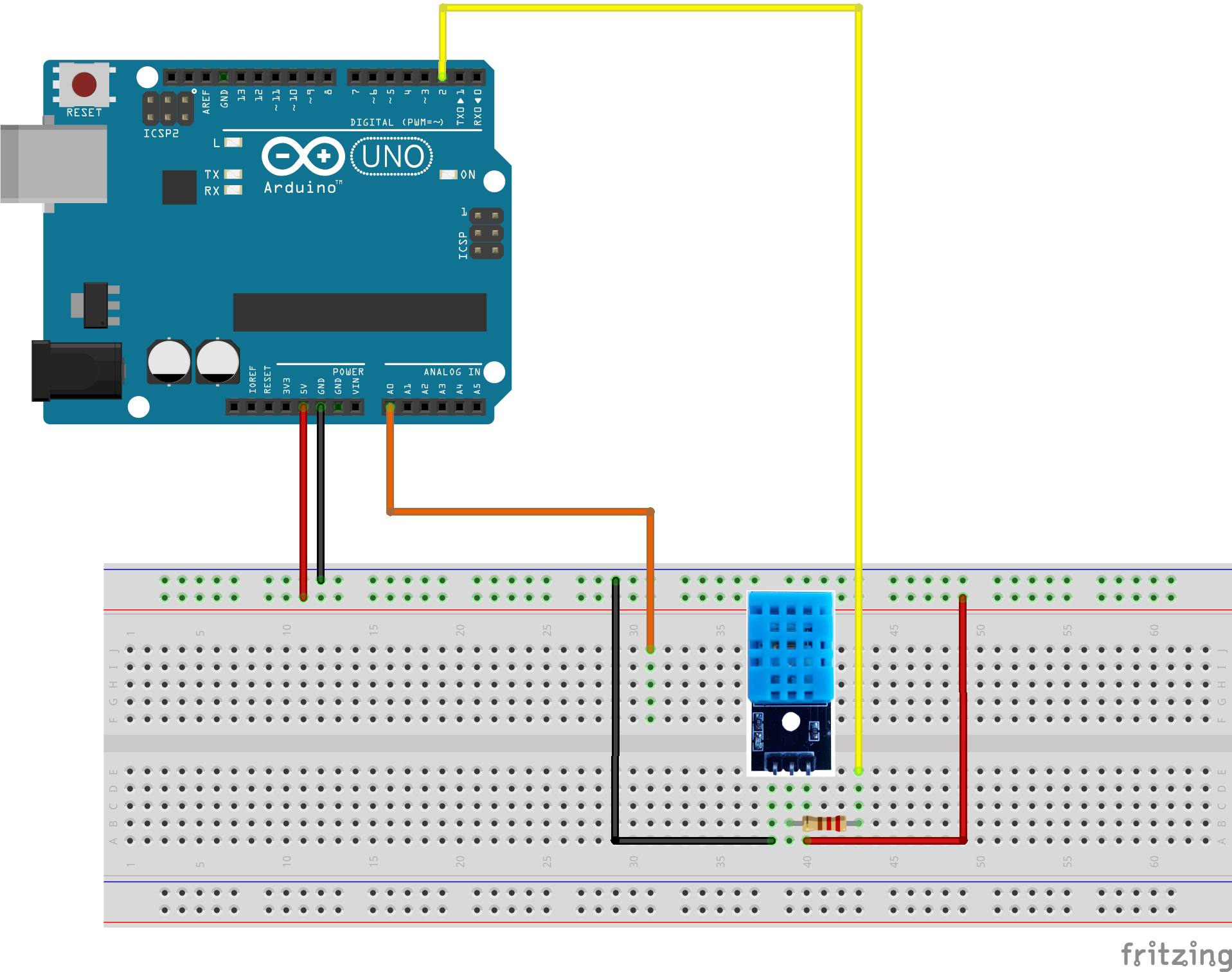 Arduino IOT Lesson 5:Remote temperature Monitoring-DHT11
