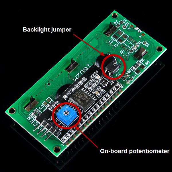 I2C 1602 LCD Display Module – Blue Backlight « osoyoo com