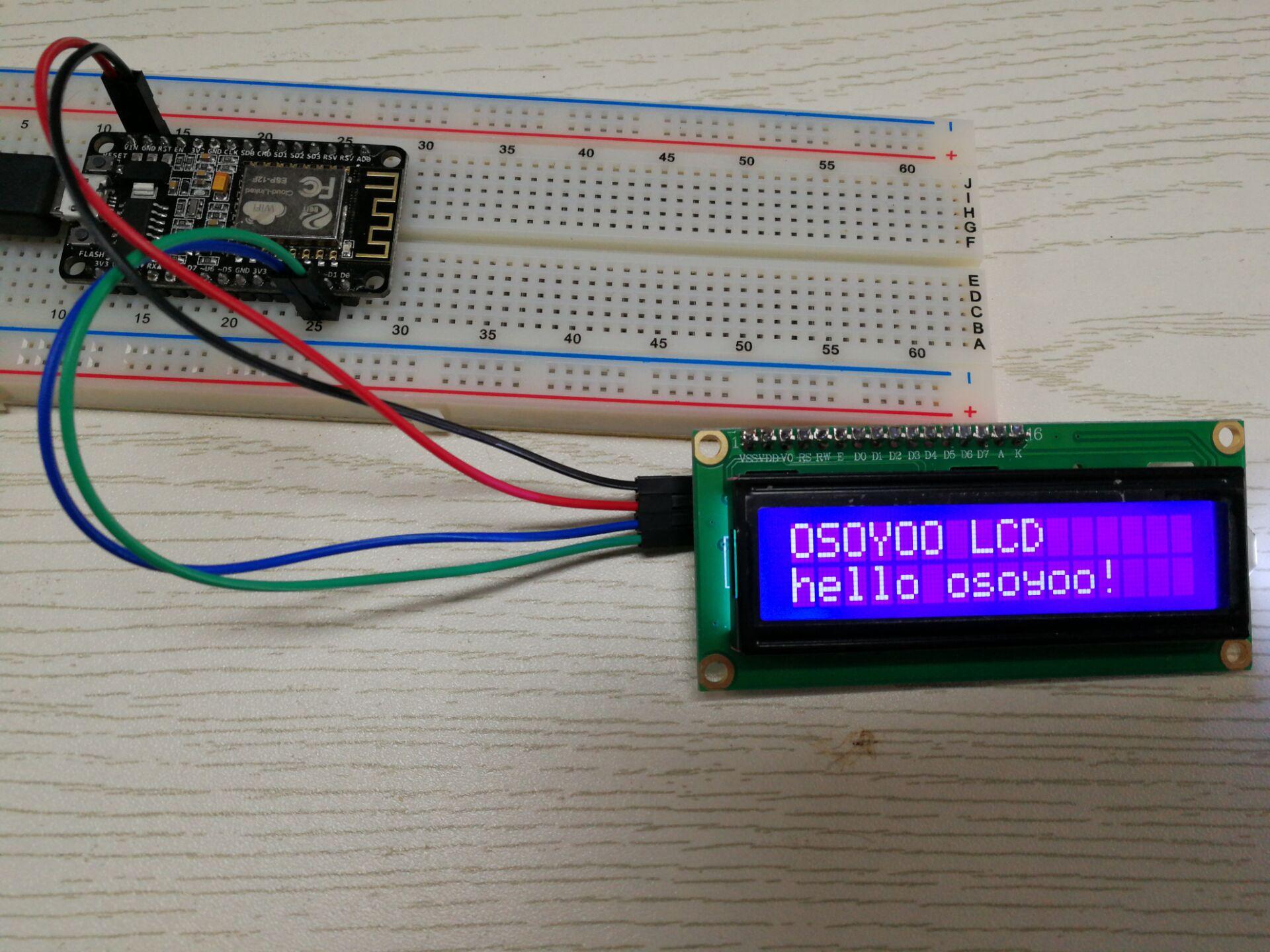 NodeMCU Lesson 15 — I2C 1602 LCD & MQTT « osoyoo com