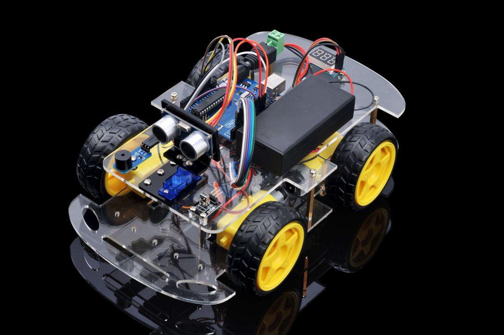 Osoyoo robot car starter kit lesson obstacle avoidance
