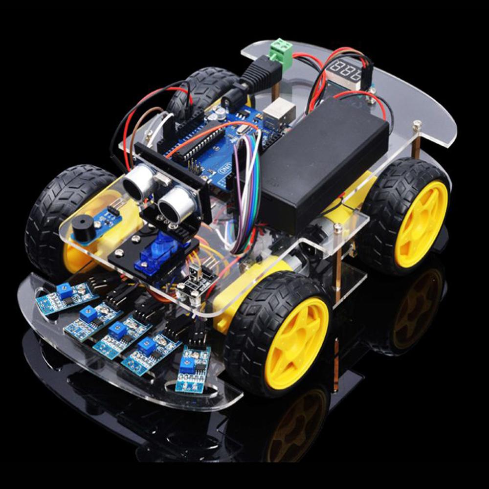 OSOYOO Robot Car Starter Kit Lesson 4: Tracking Robot Car