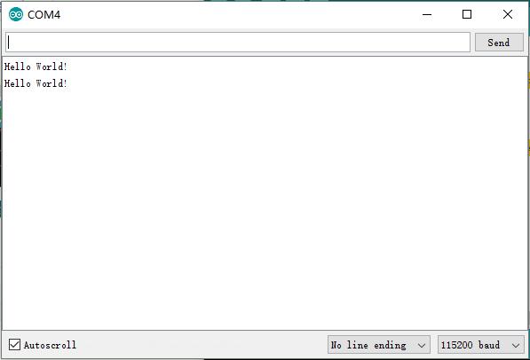 serial monitor result