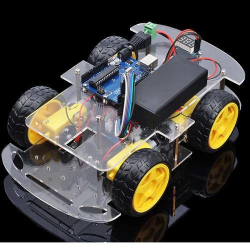 ロボットカー初心者キット第1課 R3ボードとモータをシャーシに装着する
