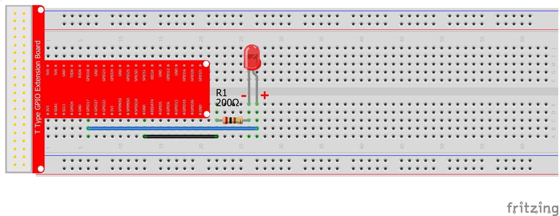 Raspberry Pi Starter Kit Lesson 4 Python Light Led Wiringpi Code Examples 2connection Graph
