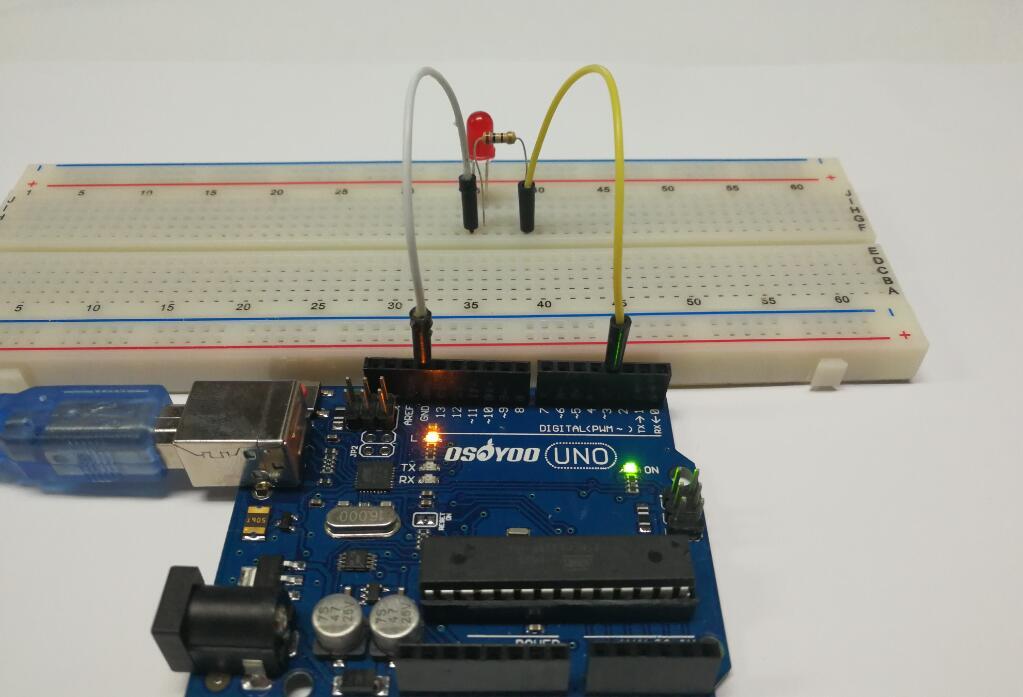 Arduino lesson pwm control led brightness breathing