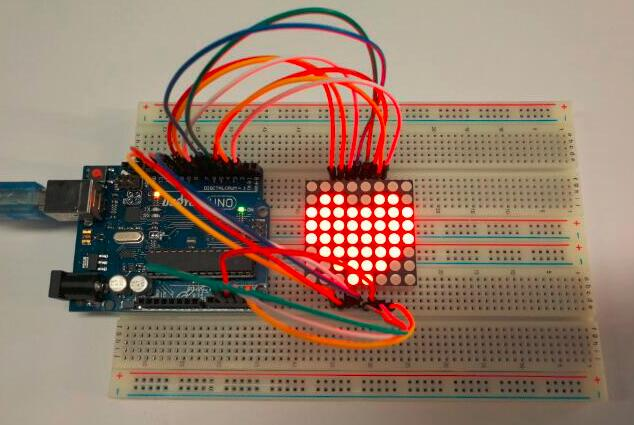 Brilliant Arduino Lesson 88 Led Matrix Osoyoo Com Wiring 101 Capemaxxcnl