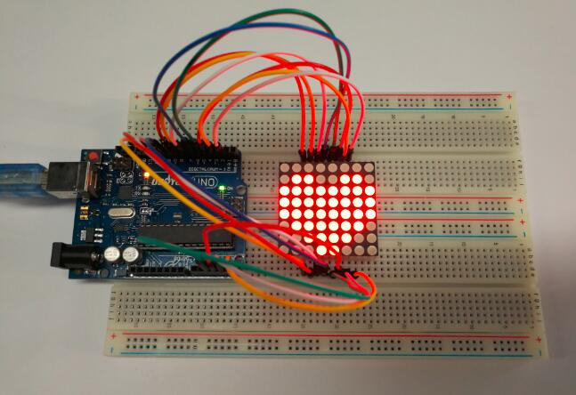Sensational Arduino Lesson 88 Led Matrix Osoyoo Com Wiring Cloud Staixuggs Outletorg