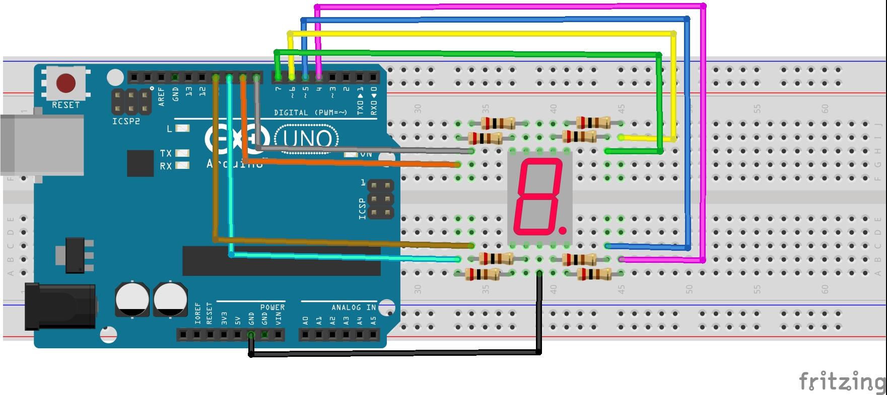 Arduino Lesson  U2013 One Digit 7