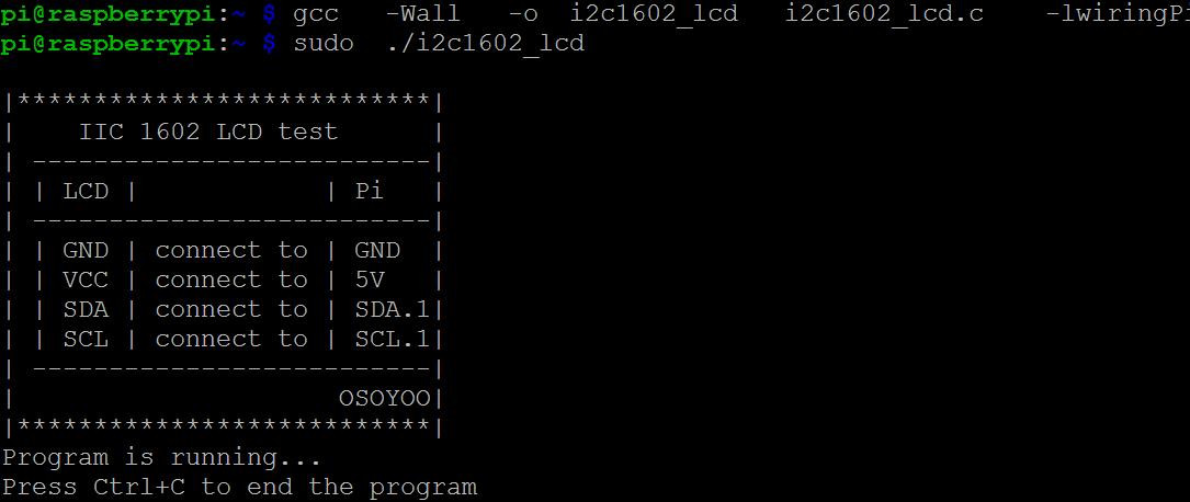 Raspberry Pi Starter Kit Lesson 13: I2C 1602 LCD « osoyoo com