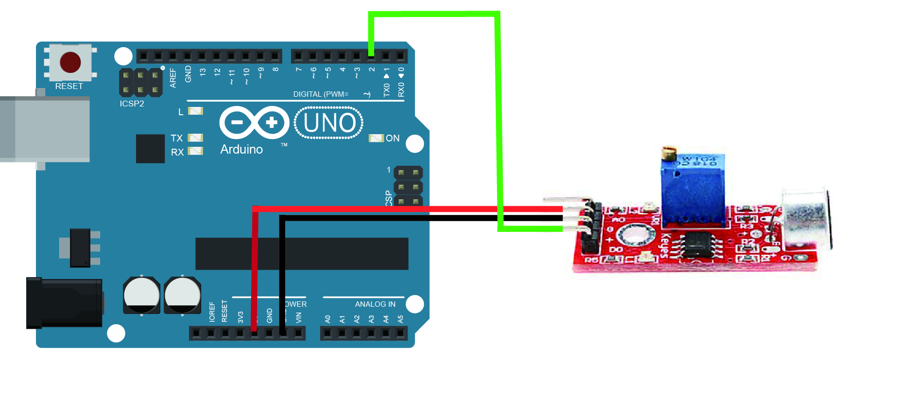 Arduino lesson sound detection sensor « osoyoo