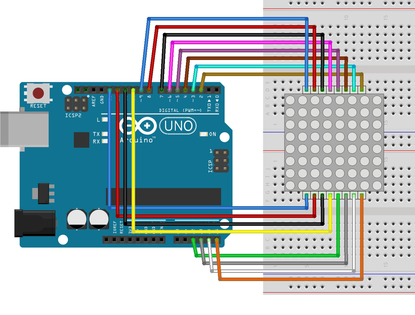 Arduino lesson led matrix « osoyoo
