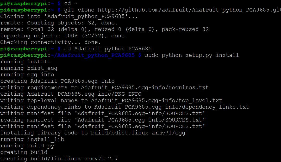 Raspberry Pi Starter Kit Lesson 12 Drive Sg90 Servo Node Wiringpi 4 Run Program