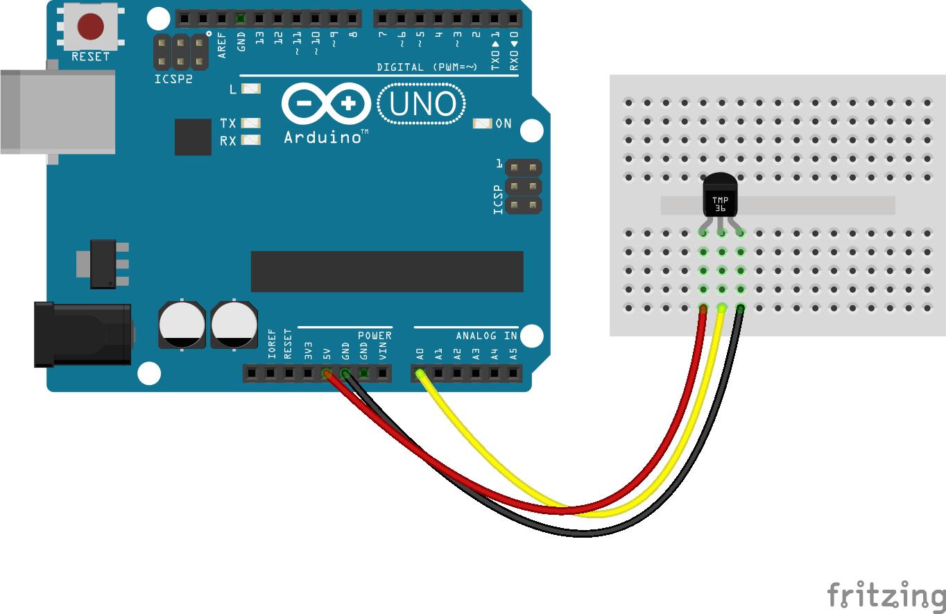 Arduino lesson – TMP36 « osoyoo.com