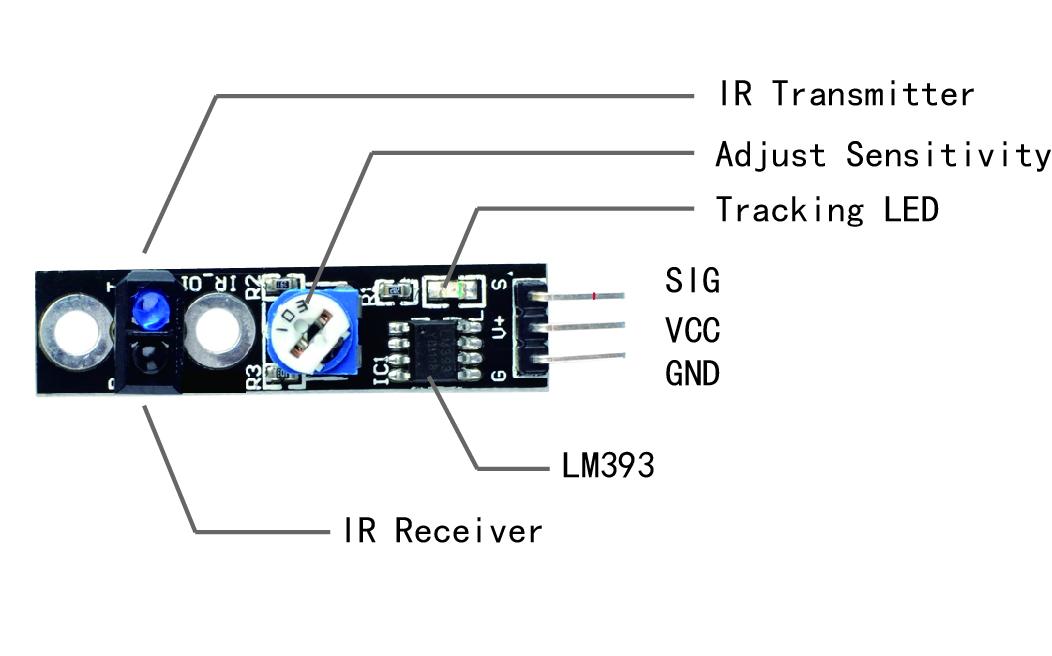Arduino lesson – TCRT5000 IR Track Sensor « osoyoo com