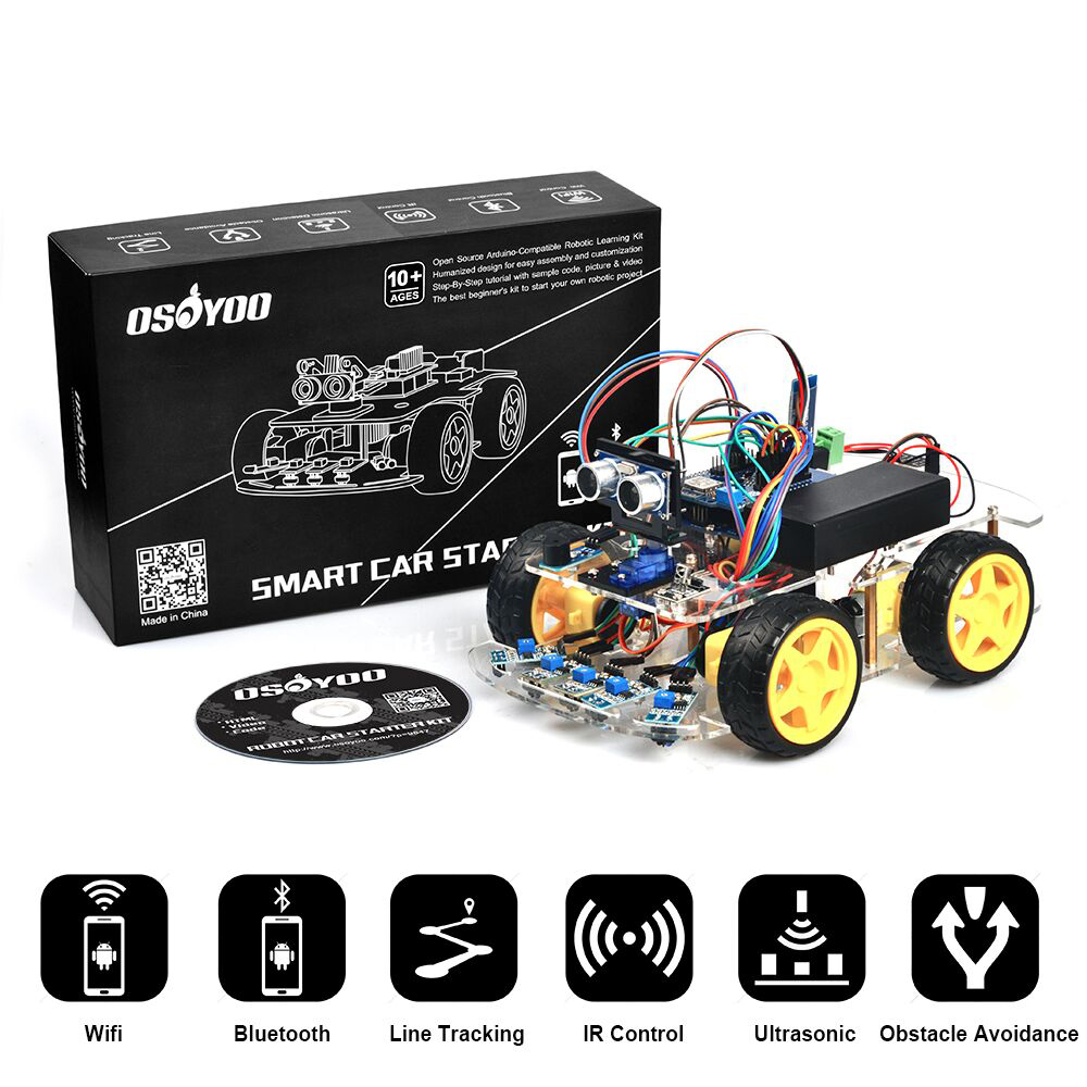 Osoyoo Robot Car Starter Kit Tutorial Introduction Cellphone Controlled Circuit Electronic Projects Authorized Online Retailers