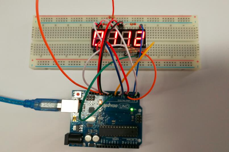 Arduino lesson – 4 Digit 7 Segment LED Display « osoyoo.com on