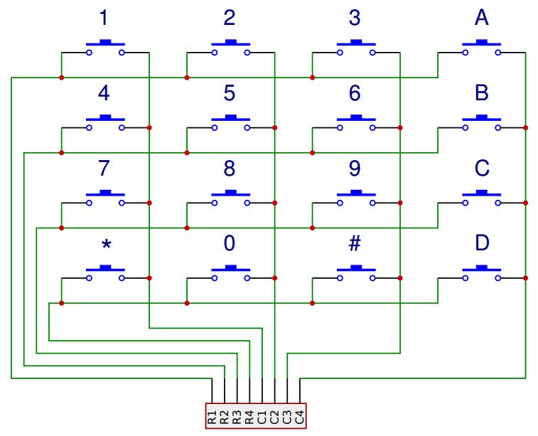 Arduino lesson – 4×4 Matrix Keypad « osoyoo com