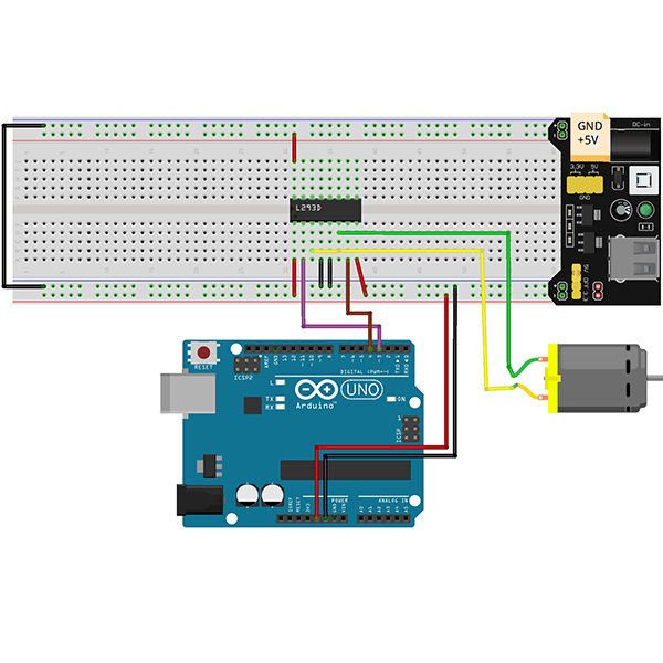 Arduino lesson – L293D With DC Motor