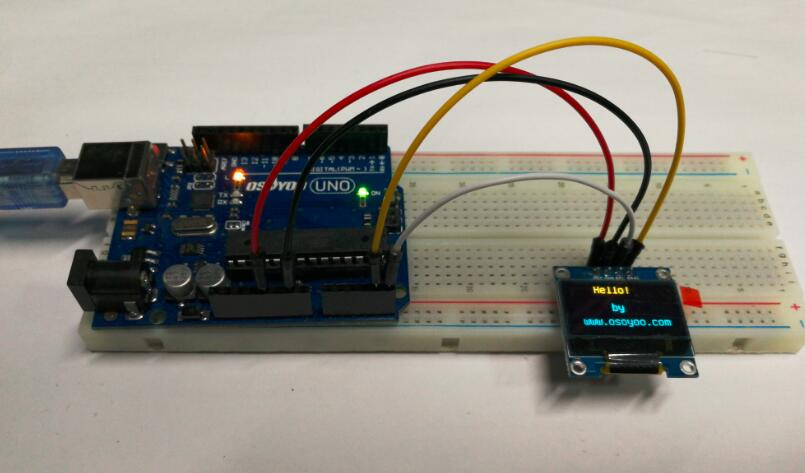 Arduino lesson i c oled display « osoyoo