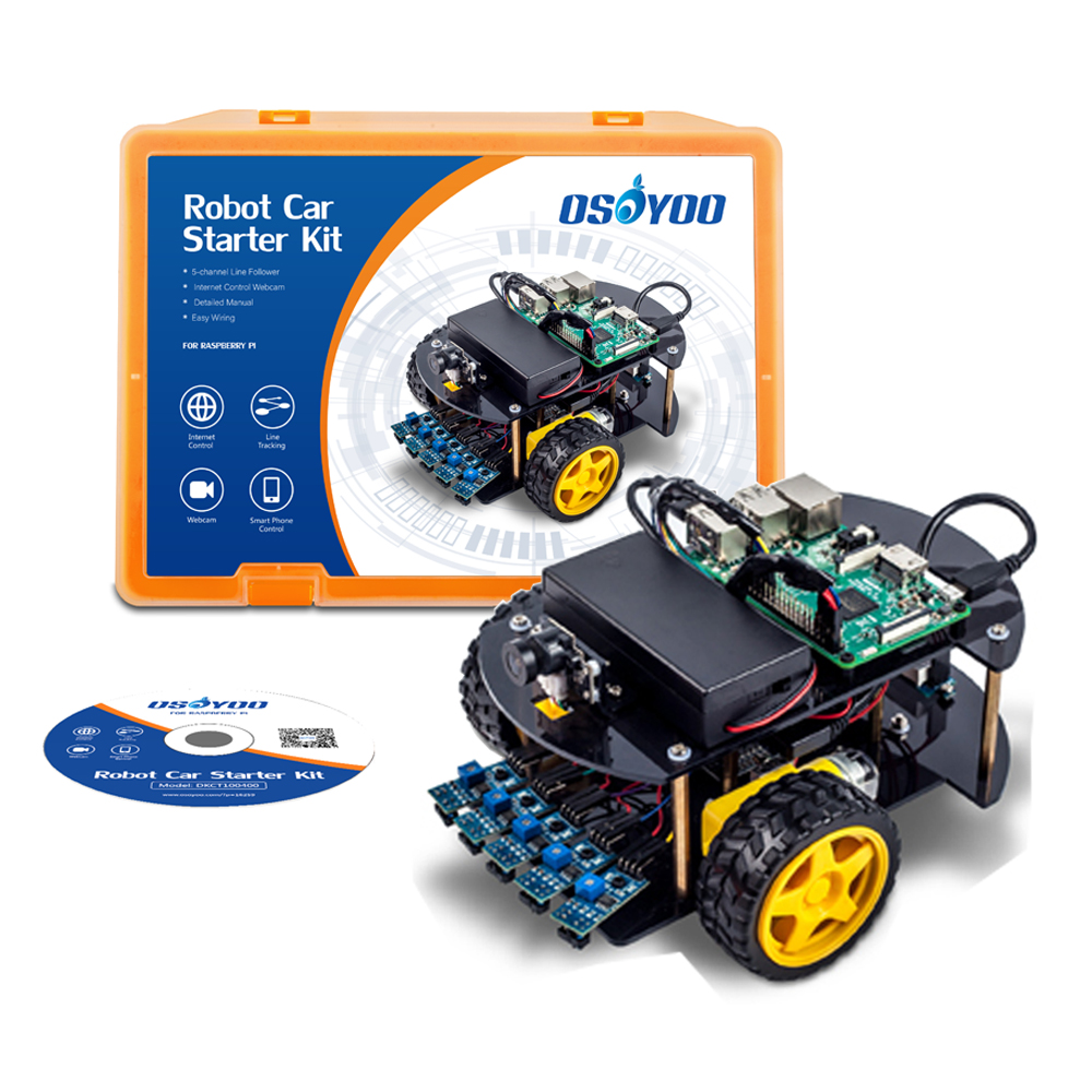 Raspberry Pi Robot Car DIY learning Kit Tutorial Guide