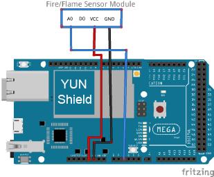 Osoyoo Yun IoT Lesson 11 – Flame Sensor « osoyoo com