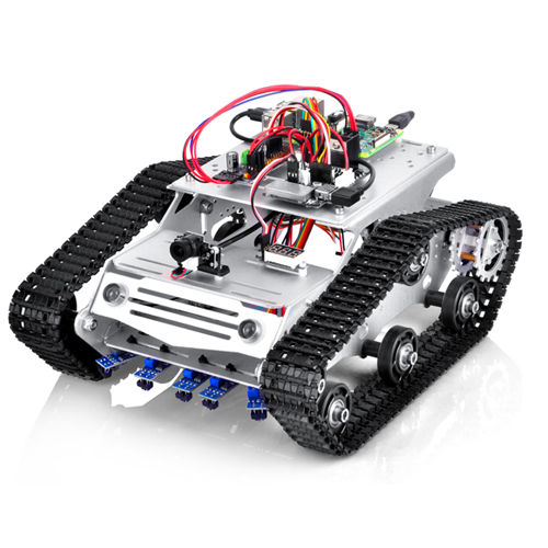 Robot Tank Car Kit Lesson 7:Control Robot Tank Car through Wifi and Bluetooth